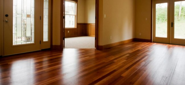 Sparkling Hardwood Floor after being professionally cleaned.