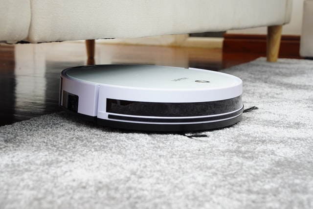 a robot vacuum cleaner.
