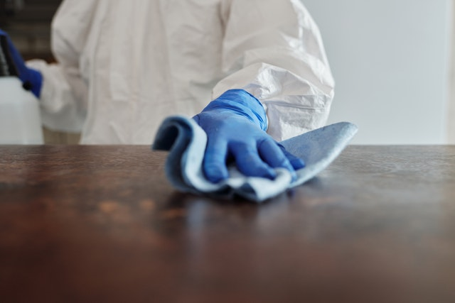 ultimate cleaning with professional protective equipment