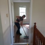 Tabby Polishing VCT floor