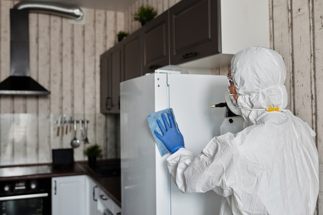 A fridge cleaned by a deep house cleaning service.